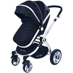 iSafe 3 in 1 - Black (With Car Seat) Travel System Pram Options - Baby Travel UK  - 2