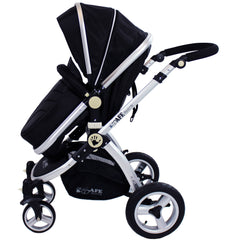 iSafe 3 in 1 - Black (With Car Seat) Travel System Pram Options - Baby Travel UK  - 9