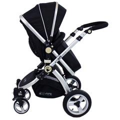 iSafe 3 in 1 - Black (With Car Seat) Travel System Pram Options - Baby Travel UK  - 10