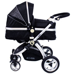 iSafe 3 in 1 - Black (With Car Seat) Travel System Pram Options - Baby Travel UK  - 3
