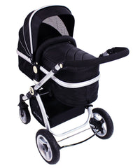 iSafe 3 in 1 - Black (With Car Seat) Travel System Pram Options - Baby Travel UK  - 4