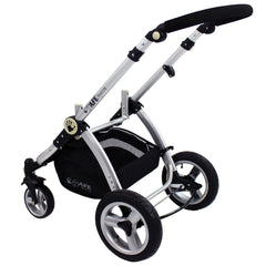 i-Safe System - Grey Trio Travel System Pram & Luxury Stroller 3 in 1 Complete With Car Seat + Rain Covers - Baby Travel UK  - 14