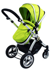 iSafe 3 in 1  Pram System - Lime Carseat Isofix Base + Footmuff & Raincover Package - Baby Travel UK  - 7