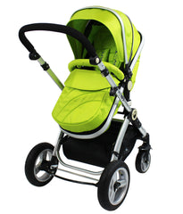 iSafe 3 in 1  Pram System - Lime Carseat Isofix Base + Footmuff & Raincover Package - Baby Travel UK  - 5