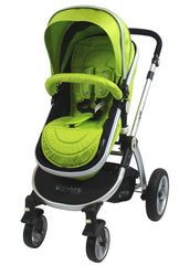 iSafe 3 in 1  Pram System - Lime Carseat Isofix Base + Footmuff & Raincover Package - Baby Travel UK  - 2