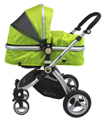 iSafe 3 in 1  Pram System - Lime Carseat Isofix Base + Footmuff & Raincover Package - Baby Travel UK  - 8