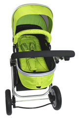 iSafe 3 in 1  Pram System - Lime Carseat Isofix Base + Footmuff & Raincover Package - Baby Travel UK  - 10