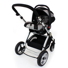 iSafe System - Black Pram Travel System Carseat & iSOFIX Base Package - Baby Travel UK  - 10
