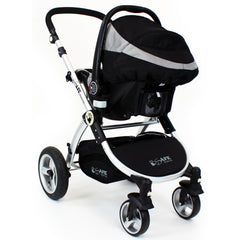 iSafe System - Black Pram Travel System Carseat & iSOFIX Base Package - Baby Travel UK  - 11