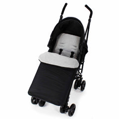 Buddy Jet Footmuff  For Hauck Miami 4 Trio Set (Caviar/Silver) - Baby Travel UK  - 7