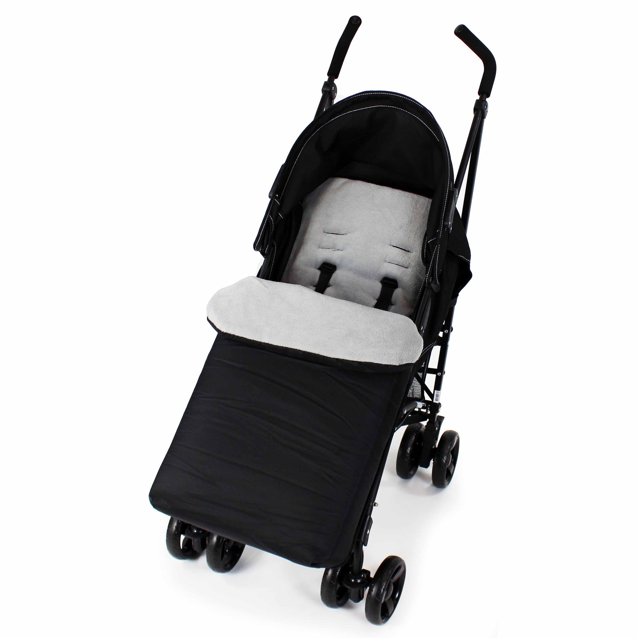 Universal Baby Stroller cosytoes Liner Buggy Padded Luxury Footmuff Black//Hot Chocolate