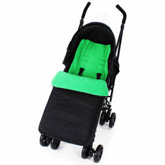 Footmuff  Buddy Jet For OBaby Apollo Twin Stroller (Grey Stripe/Lime) - Baby Travel UK  - 13