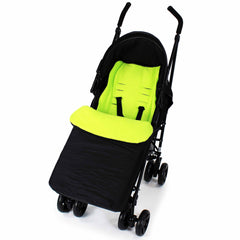 Footmuff  Buddy Jet For OBaby Apollo Twin Stroller (Grey Stripe/Lime) - Baby Travel UK  - 17