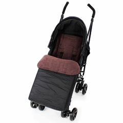 Footmuff  Buddy Jet For OBaby Apollo Twin Stroller (Grey Stripe/Purple) - Baby Travel UK  - 15