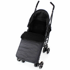 Buddy Jet Footmuff  For Hauck Miami 4 Trio Set (Caviar/Silver) - Baby Travel UK  - 19