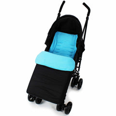 Buddy Jet Footmuff  For ickle bubba Stomp V2 Silver All-in-One Travel System (Blue) - Baby Travel UK  - 11