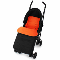 Buddy Jet Footmuff  For Hauck Malibu XL All in One Travel System (Toast/Black) - Baby Travel UK  - 5