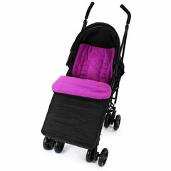 Buddy Jet Footmuff  For Joie Mirus Scenic Juva Travel System (Fuschia) - Baby Travel UK  - 3