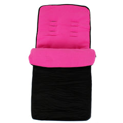 Buddy Jet Footmuff  For Joie Mirus Scenic Juva Travel System (Fuschia) - Baby Travel UK  - 10