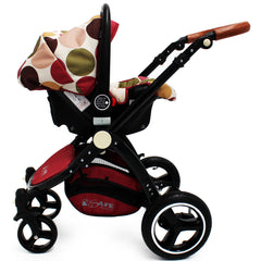 iSafe Baby Stroller Pram 3 in 1 - C&M Design (Complete With Car Seat) - Baby Travel UK  - 9