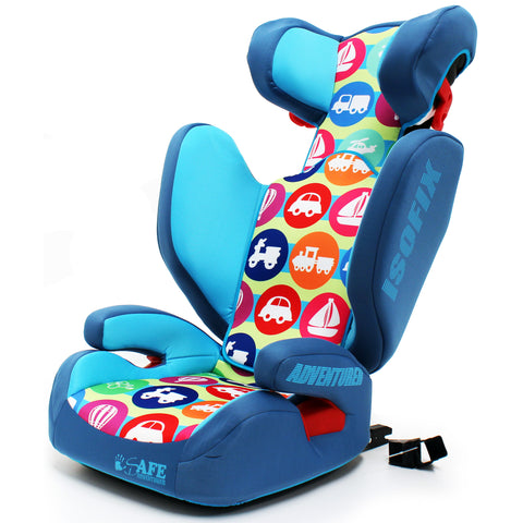 iSafe Booster Carseat Kid Junior Isofix Car Seat Group 2-3 Adventurer 15-36kg