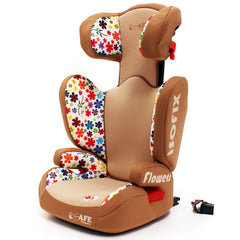 iSafe Carseat Kid Junior Isofix Group 2-3 FLOWERS 15-36kg Baby Child Toddler - Baby Travel UK  - 4