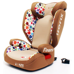 iSafe Carseat Kid Junior Isofix Group 2-3 FLOWERS 15-36kg Baby Child Toddler - Baby Travel UK  - 5