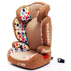 iSafe Carseat Kid Junior Isofix Group 2-3 FLOWERS 15-36kg Baby Child Toddler - Baby Travel UK  - 3