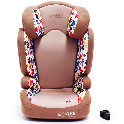 iSafe Carseat Kid Junior Isofix Group 2-3 FLOWERS 15-36kg Baby Child Toddler
