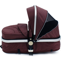 iSafe 3 in 1  Pram System - Hot Chocolate With Carseat, Isofix Base, Footmuff & Raincover - Baby Travel UK  - 8