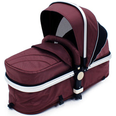 iSafe 3 in 1  Pram System - Hot Chocolate With Carseat, Footmuff & Raincover Package - Baby Travel UK  - 7