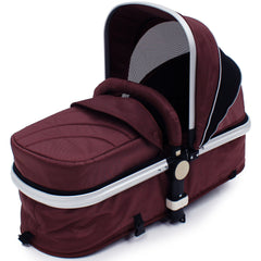 iSafe 3 in 1  Pram System - Hot Chocolate With Carseat, Isofix Base, Footmuff & Raincover - Baby Travel UK  - 9