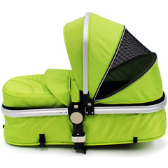 iSafe 3 in 1  Pram System - Lime Carseat Isofix Base + Footmuff & Raincover Package - Baby Travel UK  - 16