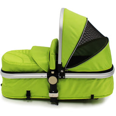 iSafe 3 in 1  Pram System - Lime Travel System + Carseat + Bedding - Baby Travel UK  - 14