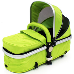 iSafe 3 in 1  Pram System - Lime + Carseat + Footmuff & Raincover Package - Baby Travel UK  - 13