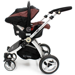 iSafe 3 in 1  Pram System - Hot Chocolate With Carseat, Footmuff & Raincover Package - Baby Travel UK  - 11