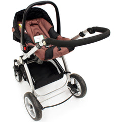 iSafe 3 in 1  Pram System - Hot Chocolate With Carseat, Isofix Base, Footmuff & Raincover - Baby Travel UK  - 11