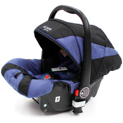 iSafe 3 in 1  Pram System - Navy (Dark Blue) + Carseat + Footmuff & Raincover Package - Baby Travel UK  - 10