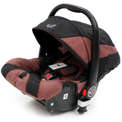 iSafe 3 in 1  Pram System - Hot Chocolate With Carseat, Isofix Base, Footmuff & Raincover - Baby Travel UK  - 13