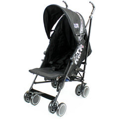 Zeta CiTi Stroller - Black Complete With Footmuff & Raincover - Baby Travel UK  - 6