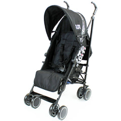 Zeta CiTi Stroller - Black Complete With Footmuff & Raincover - Baby Travel UK  - 7