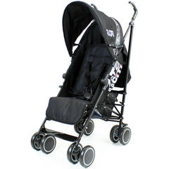 Zeta CiTi Stroller - Black From Birth Complete With Rain Cover - Baby Travel UK  - 4