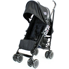 Zeta CiTi Stroller - Black Complete With Footmuff & Raincover - Baby Travel UK  - 10