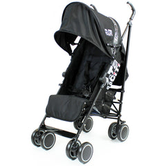 Zeta CiTi Stroller - Black From Birth Complete With Rain Cover - Baby Travel UK  - 1
