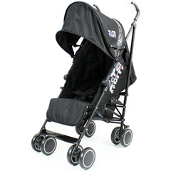 Zeta CiTi Stroller - Black Complete With Footmuff & Raincover - Baby Travel UK  - 11