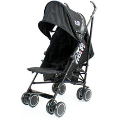Zeta CiTi Stroller - Black From Birth Complete With Rain Cover - Baby Travel UK  - 2