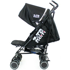 Zeta CiTi Stroller - Black Complete With Footmuff & Raincover - Baby Travel UK  - 13