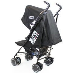 Zeta CiTi Stroller - Black Complete With Footmuff & Raincover - Baby Travel UK  - 16