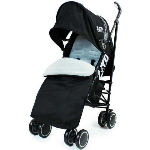 Zeta CiTi Stroller - Black Complete With Footmuff & Raincover