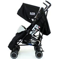 Zeta CiTi Stroller - Black Complete With Footmuff & Raincover - Baby Travel UK  - 2